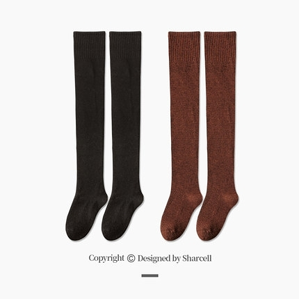 襪子 厚襪子女冬季加絨過膝襪保暖羊毛襪日系長襪女潮ins長筒襪女秋冬