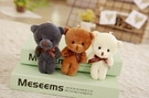 【3色】大頭創意熊娃娃玩偶 吊飾配件 聖誕節交換禮物 生日禮物 兒童節