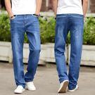 男牛仔褲-男士寬鬆加肥加大休閒直筒牛仔褲 衣普菈