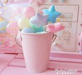 粉色鐵皮小桶盆栽桶 粉嫩桌面筆筒收納桶 鐵藝小提桶小花盆·蒂小屋服飾