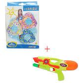【奇買親子購物網】INTEX 三角游泳圈(白/粉/藍)/隨機出貨不挑款+WATER GUN袋裝氣壓水槍