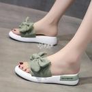拖鞋 涼拖鞋女夏季外穿時尚新款沙灘鞋網紅超火百搭花朵松糕鞋拖鞋