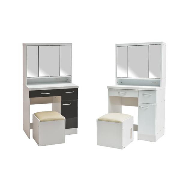 桌+椅 大收納 化妝台 化妝桌 梳妝台【N0065】艾薇三面鏡多功能收納化妝桌椅 收納專科