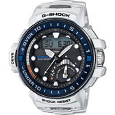 【CASIO】卡西歐 G-SHOCK MASTER 海軍進階版太陽能電波手錶-白 GWN-Q1000-7A / GWN-Q1000-7ADR