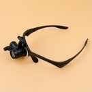 顯微鏡 高清25倍頭戴眼鏡式帶led燈可調放大鏡鐘表維修專用鴿子眼顯微鏡【快速出貨國慶八折】