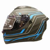 【東門城】SBK 速百克 RADER 雷達(黑藍) 全罩式安全帽 雙鏡片