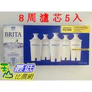 [促銷到4月30 圓形8周濾芯] Brita 濾水壺濾心/濾芯 (5入) (和舊款相容可過濾151公升)