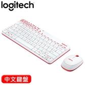 Logitech 羅技 MK240 2.4G 無線鍵盤滑鼠組 紅白 中文