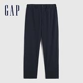 Gap男裝 商務鬆緊彈力休閒褲 695441-海軍藍