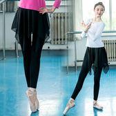 新款不規則芭蕾舞雪紡假兩件舞蹈褲  夏