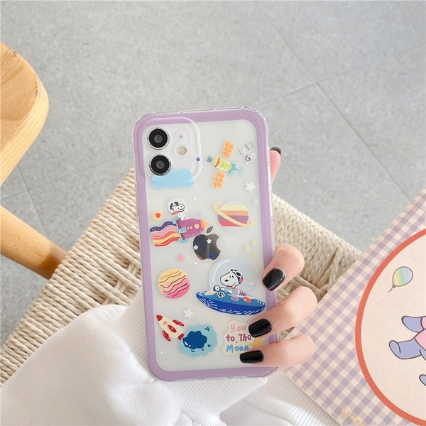 星球玉桂狗史努比 適用 iPhone12Pro 11 Max Mini Xr X Xs 7 8 plus 蘋果手機殼
