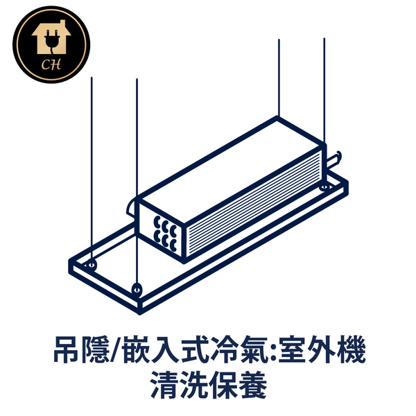 吊隱|坎入式冷氣室外機清洗保養服務 CH08