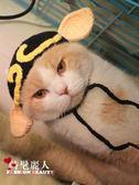 豬八戒貓咪頭套寵物帽子貓變裝帽搞怪貓頭飾英短加菲貓咪帽針織帽 全店88折特惠