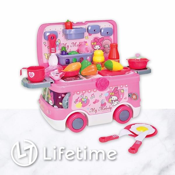 ﹝美樂蒂旅行快餐車﹞正版 玩具 快餐車 扮家家酒 送小朋友 女孩 禮物〖LifeTime一生流行館〗