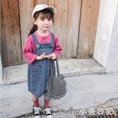 2019韓版新款童裝女童夏裝牛仔背帶裙吊帶裙寶寶休閒裙子寬鬆潮 GD900『小美日記』