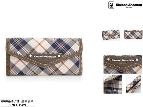 【寧寧精品*台中】Kinloch Anderson 金安德森【頂級牛皮超多夾層長夾 咖啡色】KA151202CFF-2