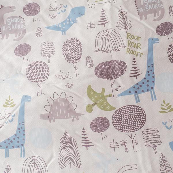 天絲床組 恐龍樂園  QPM4加大鋪棉床包鋪棉兩用被四件組(40支) 100%天絲 棉床本舖
