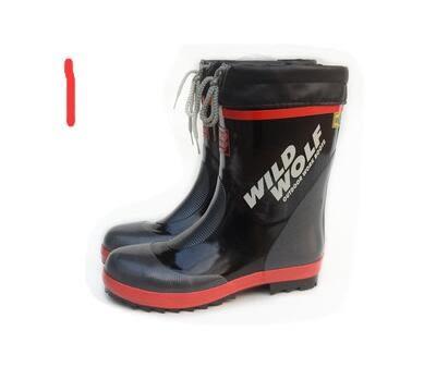 中矮筒防砸鋼包頭橡膠雨鞋  男式安全鞋  耐磨【藍星居家】