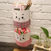 棉麻自由組合收納掛袋(單入) 懸掛 雜貨 置物 帆布 壁掛式 廚房 浴室 米菈生活館【N067】