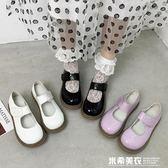 洛麗塔小皮鞋女秋款瑪麗珍鞋百搭軟妹厚底魔術貼Lolita娃娃大頭鞋 米希美衣