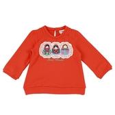 ~愛的世界~純棉俄羅斯娃娃後扣束口長袖上衣紅3 4 歲 製 上著