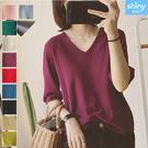 【V2895】shiny藍格子-柔軟舒適...