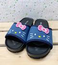 【震撼精品百貨】Hello Kitty 凱蒂貓~台灣製Hello kitty正版兒童拖鞋-牛仔(17~23號)#18172