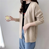 韓國秋毛衣潮2020新款女裝時尚顯瘦V領針織衫大碼外套
