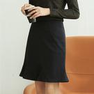 A字裙修身包臀魚尾短裙(二色S-2XL可選)/設計家 ZY3502
