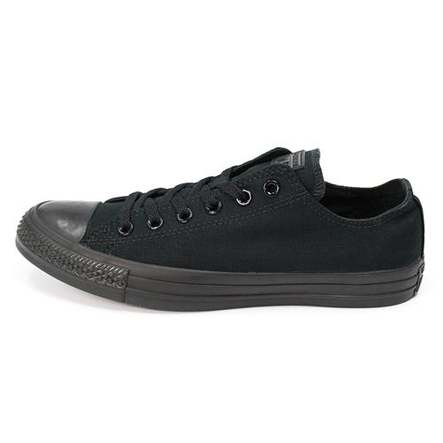 CONVERSE Chuck Taylor All Star -中性情侶基本款黑色低筒休閒鞋-  NO.M5039C