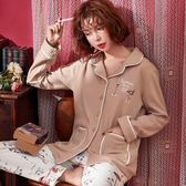 居家服 秋季睡衣女長袖6535棉歐美寬松女士套裝可外穿 米蘭shoe