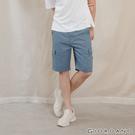 【GIORDANO】 男裝工裝休閒短褲 - 67 中藍