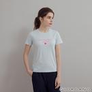 【GIORDANO】 女裝LOVE印花短袖T恤 - 32 民謠藍