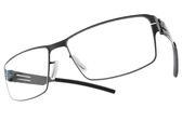 Ic! Berlin 光學眼鏡 JURGEN H. GRAPHITE (石磨) 復古簡約方框款 薄鋼眼鏡 # 金橘眼鏡