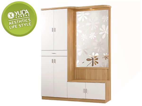 【YUDA】北歐風 羅德尼 PU塗裝 鋼印木紋 多元 現代 4.7尺 鞋櫃/玄關櫃/雙面櫃 J0M 321-3