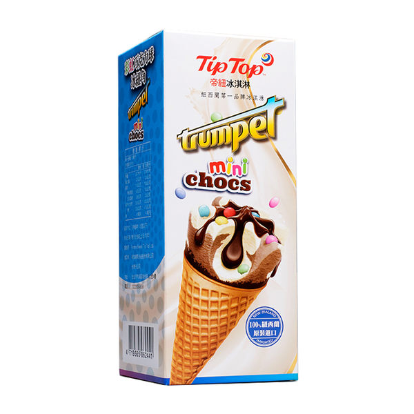 Tip Top 帝紐冰淇淋 彩虹巧克力球冰紐角 (110mL*4支)
