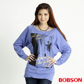 BOBSON 女款人像連袖上衣(31080-59)