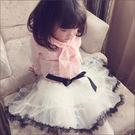 裙子 春季新款童裝 女童蝴蝶結網紗裙 蓬蓬裙 兒童裙子