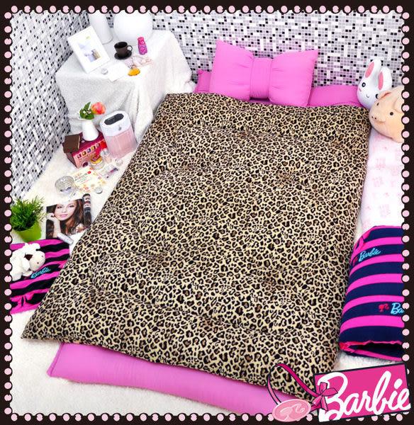 【Barbie】狂野之夜-雪芙絨時尚冬被《SEXY NIGHT OUT《咖啡》》