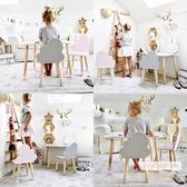 幼兒園兒童桌椅套裝實木寶寶學習寫字遊戲培訓玩具ins桌椅子家用ATF 三角衣櫃