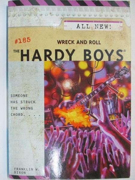 【書寶二手書T5/音樂_AYU】The Hardy Boys #185 Wreck and Roll