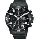 ALBA 雅柏 ACTIVE 活力運動計時手錶-鍍黑/44mm VD57-X061SD(AM3255X1)