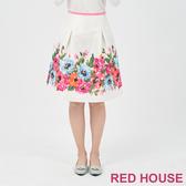【RED HOUSE 蕾赫斯】優雅花繪裙(共2色)