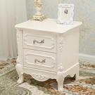 簡約現代床頭櫃迷你收納櫃現代臥室經濟型小櫃子北歐式實木儲物櫃QM 依凡卡時尚
