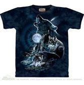 【摩達客】 (預購)(大尺碼3X) 美國進口【The Mountain】自然純棉系列 嘯月之狼 設計T恤(1049045051ab)