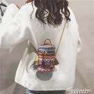 小包包女新款潮夏天草編織手提側背包斜背包少女民族風小圓包 黛尼時尚精品