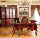 【大熊傢俱】803 新古典四門書櫃 美式新古典 歐亞書桌 電腦桌 美式辦公桌 書桌 總裁辦公桌