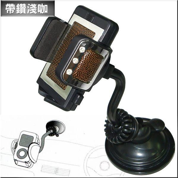 [00244054] 帶鑽手機車架 (淺咖/黑)