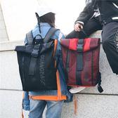 後背包女2018新款韓版bf風書包情侶款時尚潮流男休閒百搭網面背包 聖誕節禮物熱銷款