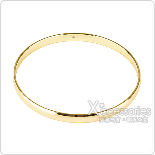 kate spade壓印LOGO簡約設計手環(金)